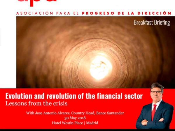 Evolution and Revolution of the Financial Sector – Lessons from the Crisis